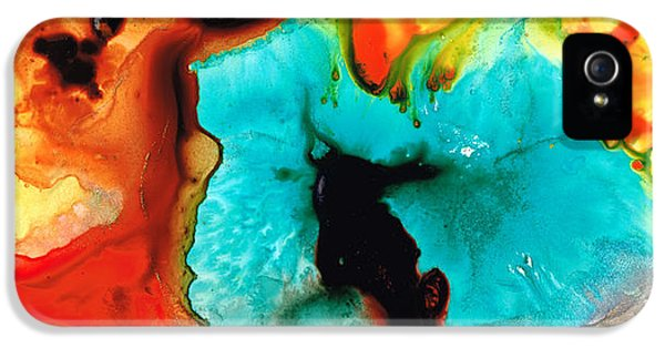 Abstract Art iPhone 5 Cases - Love And Approval iPhone 5 Case by Sharon Cummings