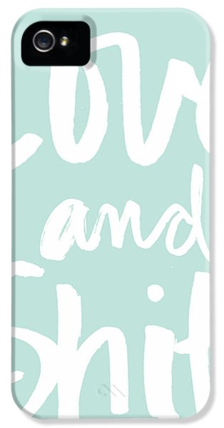 Greeting iPhone 5 Cases - Love and Shit -Greeting Card iPhone 5 Case by Linda Woods