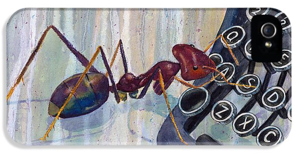 Ants iPhone 5 Cases - Love Ant Mary iPhone 5 Case by Marie Stone Van Vuuren