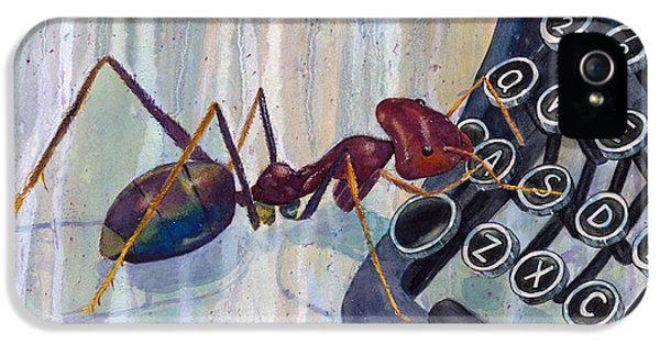 Ants iPhone 5 Cases - A is for Ant iPhone 5 Case by Marie Stone Van Vuuren