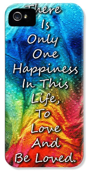 Love Art - To Be Loved - By Sharon Cummings IPhone 5 / 5s Case by Sharon Cummings