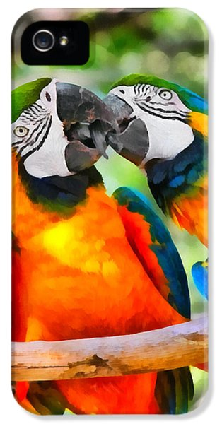 Love Bites - Parrots In Silver Springs IPhone 5 / 5s Case by Christine Till