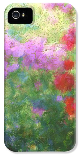 Down In The Garden iPhone 5 Cases - Love Garden iPhone 5 Case by  The Art Of Marilyn Ridoutt-Greene