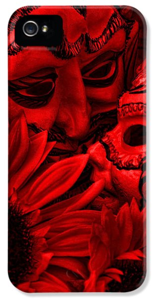 Masquerade iPhone 5 Cases - Love In Hell iPhone 5 Case by Jeff  Gettis