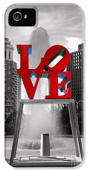 Philadelphia iPhone 5 Cases - Love isnt always black and white iPhone 5 Case by Paul Ward