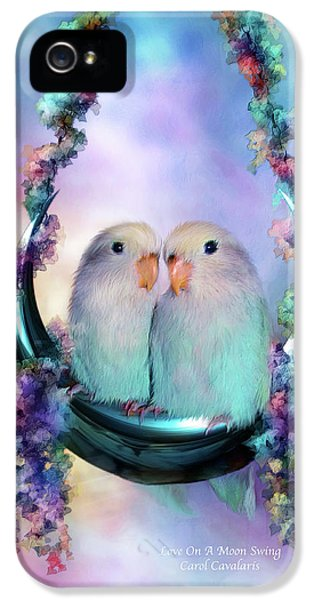 Love On A Moon Swing IPhone 5 / 5s Case by Carol Cavalaris