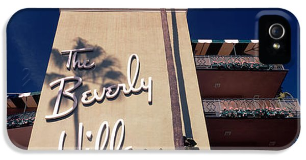 Low Angle View Of A Hotel, Beverly IPhone 5 / 5s Case by Panoramic Images
