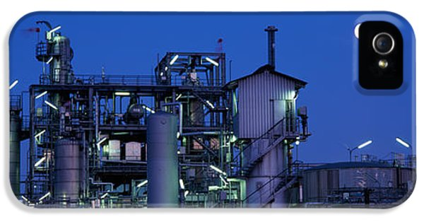 Fuel And Power Generation iPhone 5 Cases - Low Angle View Of An Oil Refinery iPhone 5 Case by Panoramic Images