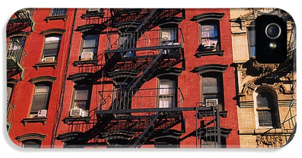 Security iPhone 5 Cases - Low Angle View Of Fire Escapes iPhone 5 Case by Panoramic Images