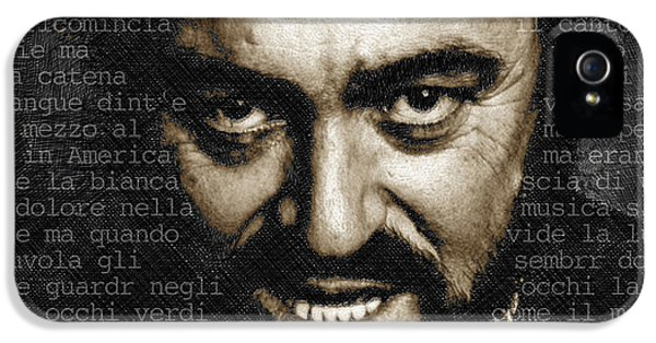 Tony Soprano iPhone 5 Cases - Luciano Pavarotti Horizontal iPhone 5 Case by Tony Rubino