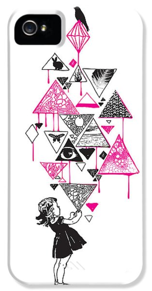 Shapes iPhone 5 Cases - Lucy in the sky iPhone 5 Case by Budi Satria Kwan