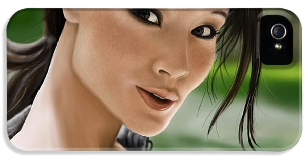 Pia Langfeld Iphone 5s Cases - Lucy iPhone 5S Case by Pia Langfeld - lucy-pia-langfeld