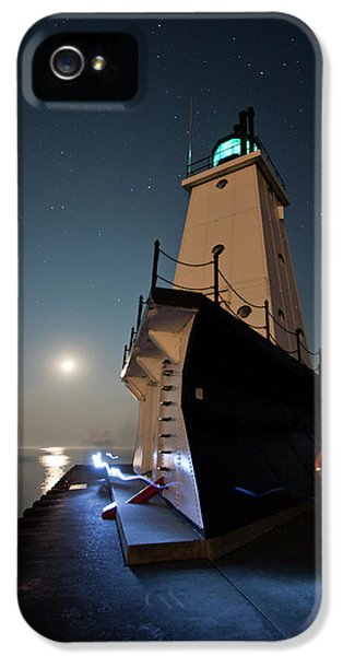 Safety iPhone 5 Cases - Ludington North Breakwater Lighthouse iPhone 5 Case by Adam Romanowicz