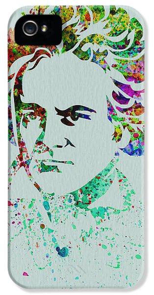 Composer iPhone 5 Cases - Ludwig van Beethoven iPhone 5 Case by Naxart Studio