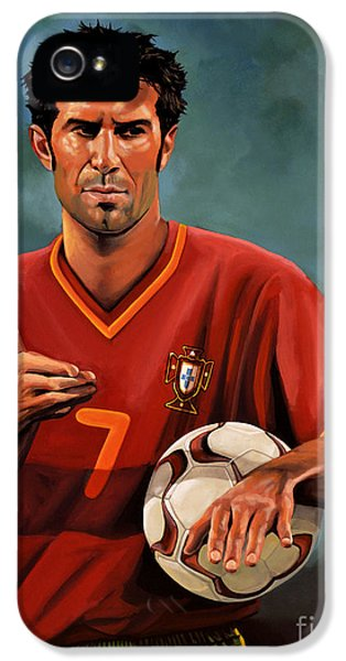 Luis Figo IPhone 5 / 5s Case by Paul Meijering