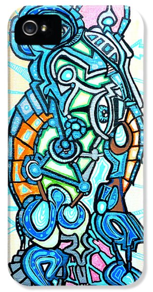 Bio-mechanical iPhone 5 Cases - Luminous Vessel iPhone 5 Case by Larry Calabrese