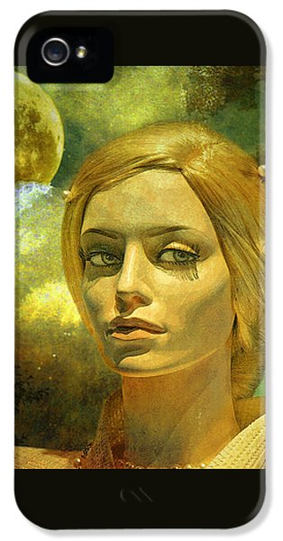 Man iPhone 5 Cases - Luna in the Garden of Evil iPhone 5 Case by Chuck Staley