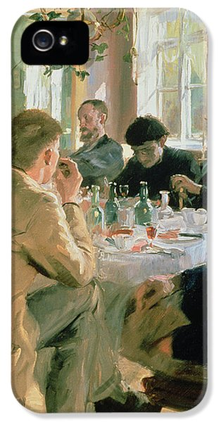 Scandinavian iPhone 5 Cases - Lunchtime, 1883 iPhone 5 Case by Peder Severin Kroyer