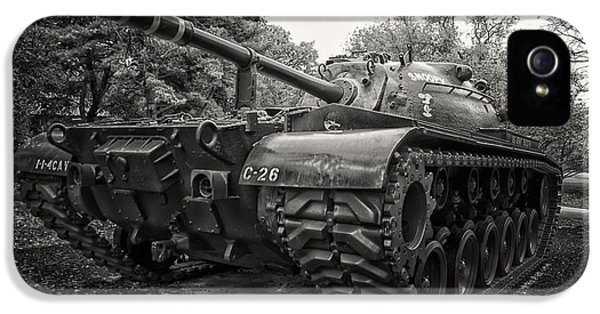 M48 Patton Tank Front View IPhone 5 / 5s Case by Thomas Woolworth