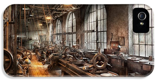 Msavad iPhone 5 Cases - Machinist - A room full of Lathes  iPhone 5 Case by Mike Savad