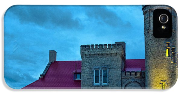 The Foghorn iPhone 5 Cases - Mackinac Point Lighthouse iPhone 5 Case by Brian Lambert