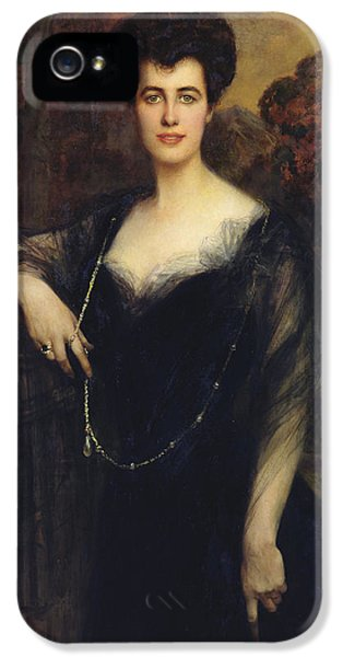 Wife iPhone 5 Cases - Madame Faure, 1901 Oil On Canvas iPhone 5 Case by Francois Flameng