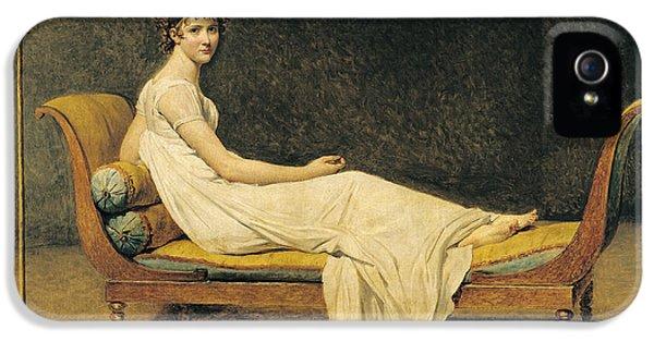 Women iPhone 5 Cases - Madame Recamier iPhone 5 Case by Jacques Louis David