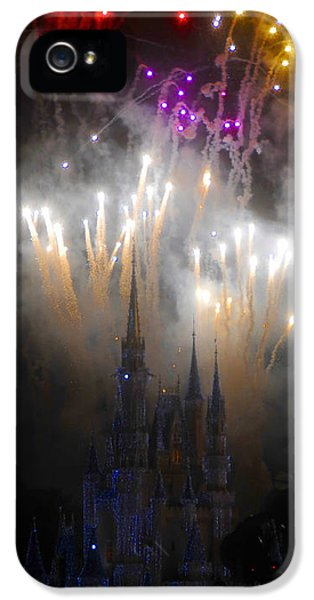 Fire Works iPhone 5 Cases - Magic Castle Night iPhone 5 Case by David Lee Thompson