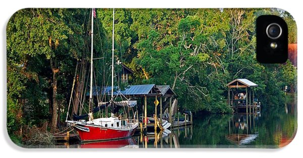 Micdesigns iPhone 5 Cases - Magnolia Red Boat iPhone 5 Case by Michael Thomas