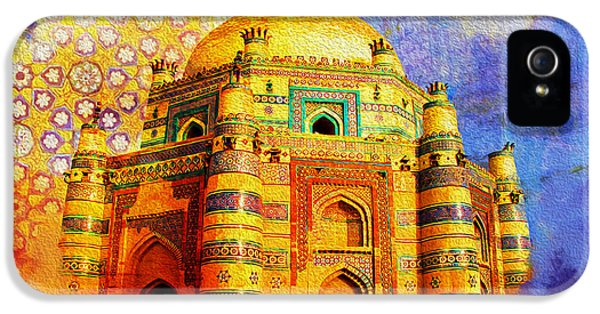 Islamabad iPhone 5 Cases - Mai Jwandi Tomb on Makli Hill iPhone 5 Case by Catf