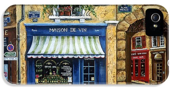 Street Scene iPhone 5 Cases - Maison De Vin iPhone 5 Case by Marilyn Dunlap