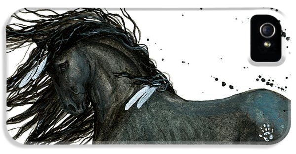 Majestic Friesian Horse 112 IPhone 5 / 5s Case by AmyLyn Bihrle