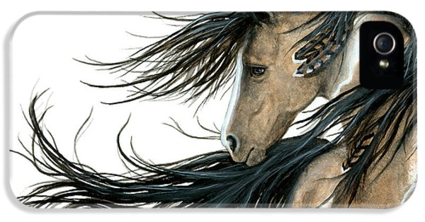 Native American iPhone 5 Cases - Majestic Horse Series 89 iPhone 5 Case by AmyLyn Bihrle