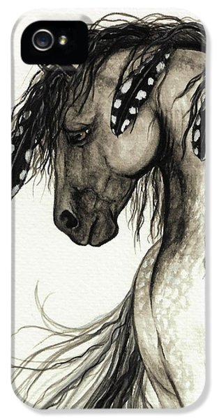 Mane iPhone 5 Cases - Majestic Mustang Horse Series #51 iPhone 5 Case by AmyLyn Bihrle