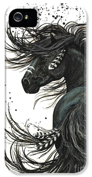 Native American iPhone 5 Cases - Majestic Spirit Horse 65 iPhone 5 Case by AmyLyn Bihrle