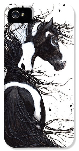 Mane iPhone 5 Cases - Majestic Pinto 108 iPhone 5 Case by AmyLyn Bihrle