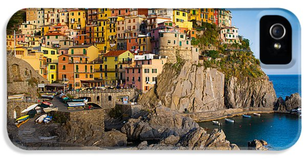 Tourism iPhone 5 Cases - Manarola iPhone 5 Case by Inge Johnsson