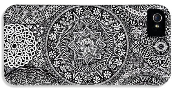 Eye iPhone 5 Cases - Mandala Bouquet iPhone 5 Case by Matthew Ridgway