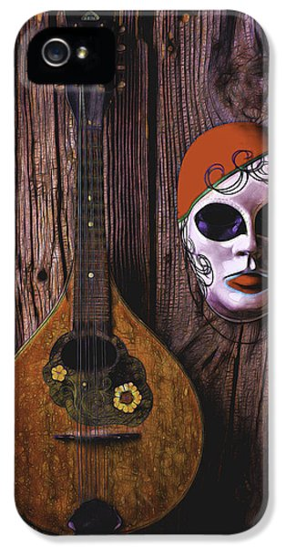 Mask iPhone 5 Cases - Mandolin Still Life iPhone 5 Case by Garry Gay