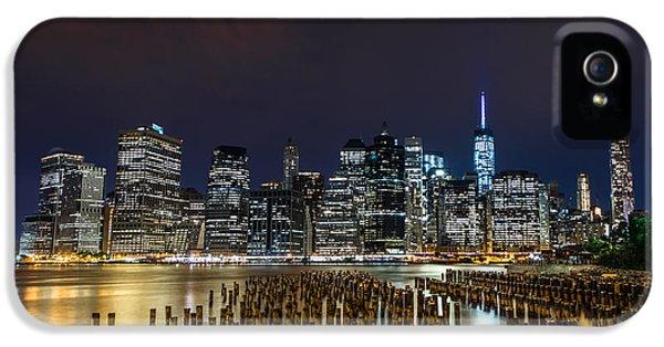 Manhattan Skyline - New York - Usa IPhone 5 / 5s Case by Larry Marshall