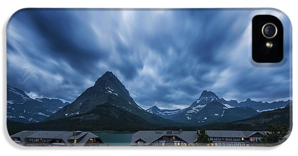 Many iPhone 5 Cases - Many Glacier Lodge iPhone 5 Case by Mark Kiver