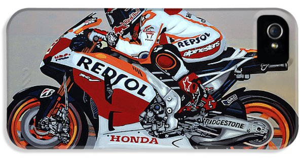 Pole Position iPhone 5 Cases - Marc Marquez iPhone 5 Case by Paul Meijering