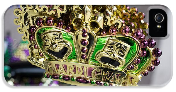 Celebration iPhone 5 Cases - Mardi Gras Beads iPhone 5 Case by Edward Fielding