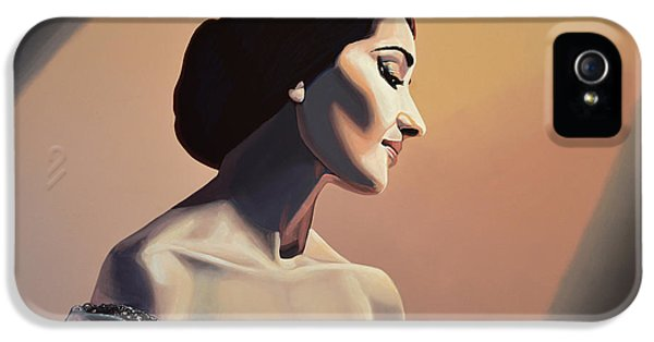 Glamour iPhone 5 Cases - Maria Callas iPhone 5 Case by Paul Meijering