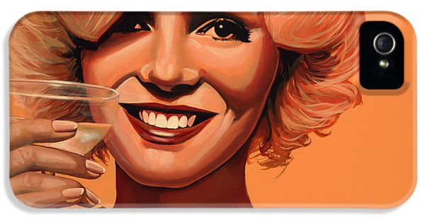 Glamour iPhone 5 Cases - Marilyn Monroe 5 iPhone 5 Case by Paul  Meijering