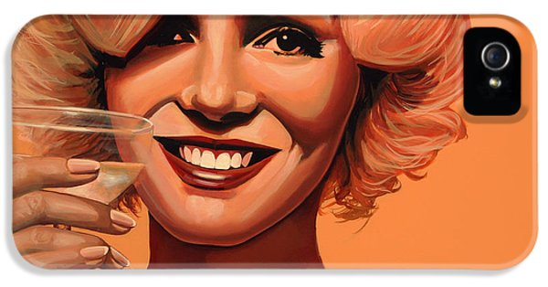 Moviestar iPhone 5 Cases - Marilyn Monroe 5 iPhone 5 Case by Paul  Meijering