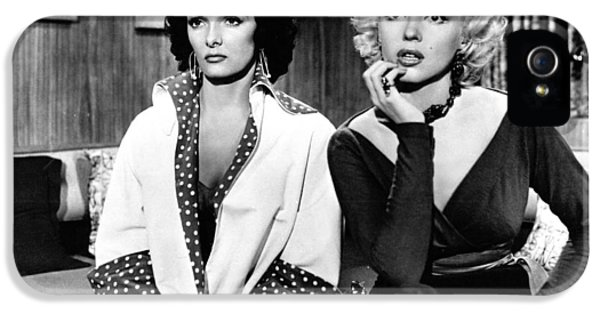 Howard Hawks iPhone 5 Cases - Marilyn Monroe and Jane Russell in Gentlemen Prefer Blondes iPhone 5 Case by Nomad Art And  Design