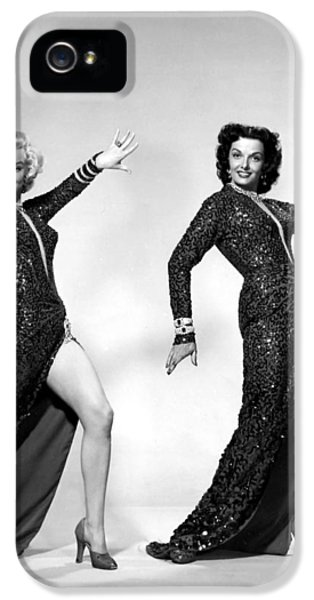 Howard Hawks iPhone 5 Cases - Marilyn Monroe and Jane Russell iPhone 5 Case by Nomad Art And  Design