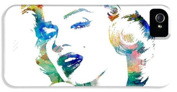 Film Watercolor iPhone 5 Cases - Marilyn Monroe iPhone 5 Case by Mike Maher