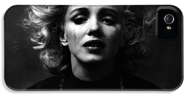 Screen iPhone 5 Cases - Marilyn Monroe Mugshot iPhone 5 Case by Mark Montana